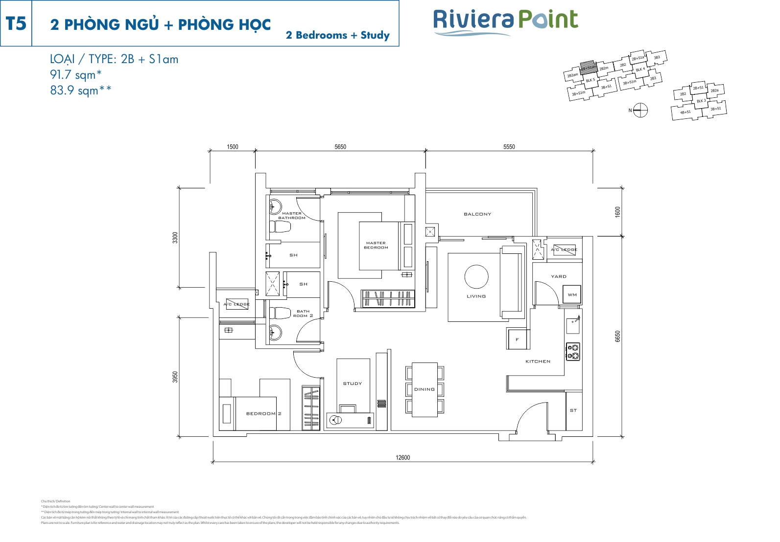 Riviera Point Quan 7 Can Ho 2 Phong Ngu T5-2BS1 AM