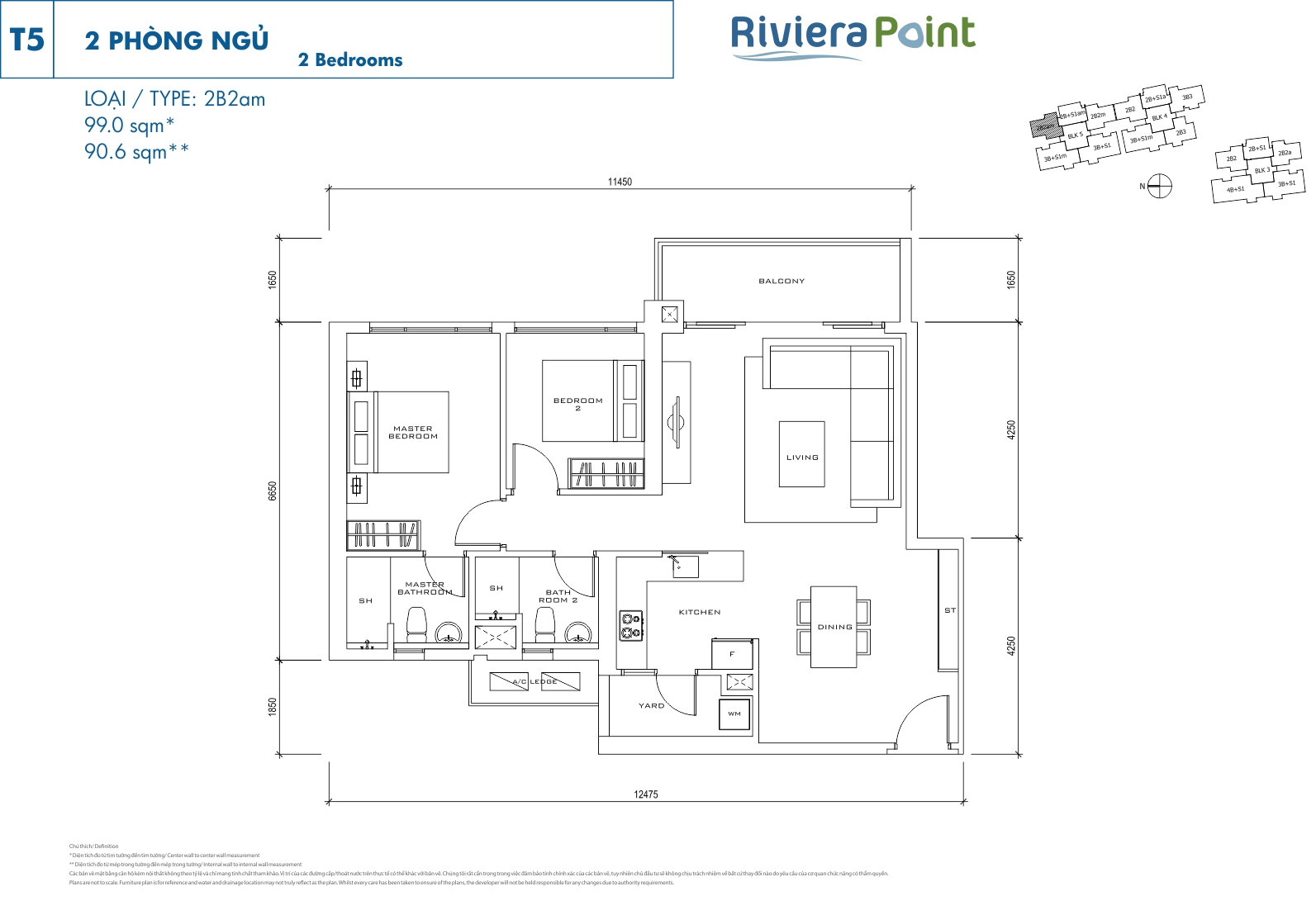 Riviera Point Quan 7 Can Ho 2 Phong Ngu T5-2B2 AM