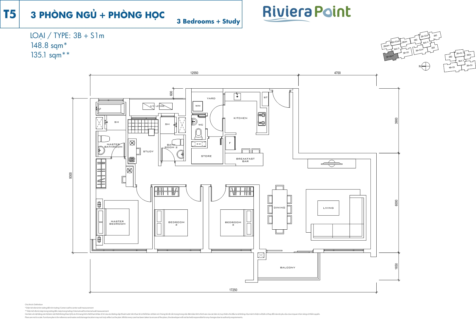 Riviera Point Quan 7 Can Ho 3 Phong Ngu T5-3BS1M